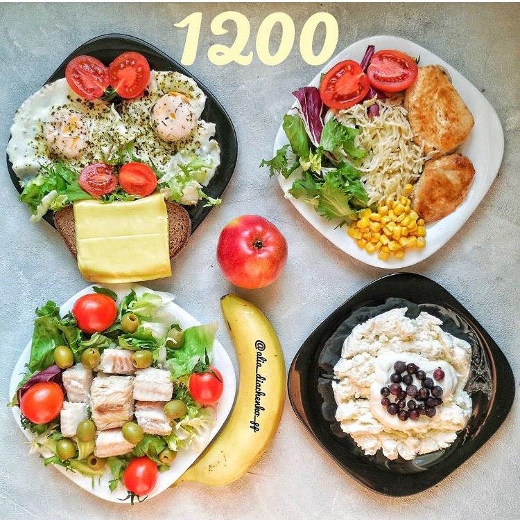 Простенький рацион для похудения (КБЖУ=1200/114/39/98)