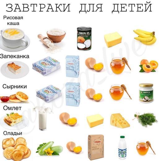 Детская подборка рецептов
