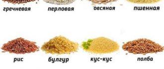 Крупы на правильном питании