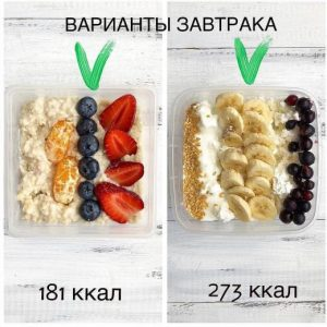 Подборка рациона (завтрак) ☑️