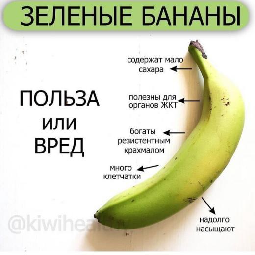 Опасны ли зеленые бананы? 🍌